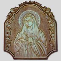 Панно резное  «Богоматерь Умиления»
